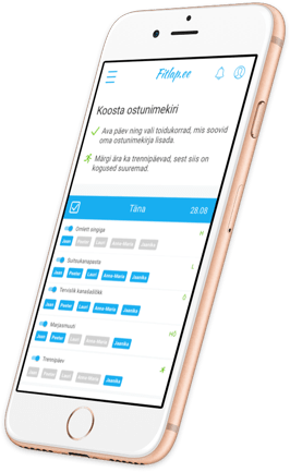 Fitlap shopping list mobile